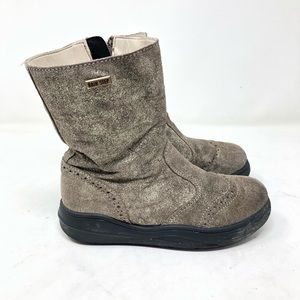 Rain step Natirino toddler girl glitter boots 12.5